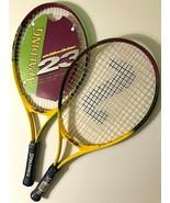 "Spalding Skillbuilder 23"" Youth Yellow Purple Tennis Racquet Grip Size 3... - $49.49"