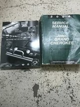 2004 Jeep Grand Cherokee Service Shop Repair Manual Set W Data Book Accessories - $138.55