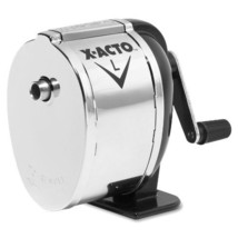 X-Acto 1041 Model l table- or wall-mount pencil sharpener, chrome recept... - $29.51