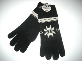 Vans Shoes Campfire Winter Wool Blend Texting Gloves Black White OSFA Un... - $25.15 CAD