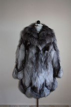 Blue Frost Fox Fur Coat Fox Collar Knee Length Women's  Brand New All sizes MEXA - $643.50