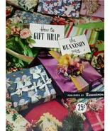 FABULOUS Vintage 50's DENNISON HOW To GIFT Wrap BOOK - $12.99