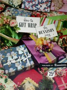 FABULOUS Vintage 50's DENNISON HOW To GIFT Wrap BOOK