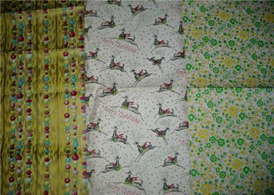 Sooo FUN Vintage Gift Wrap WRAPPING PAPER SHEETS!!