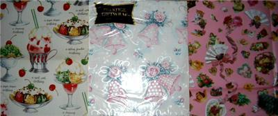 Darling Vintage Gift Wrap Trio SEALED!