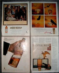 FUN 50's/60's LIQUOR & BEER ADVERTISING AD Collection!