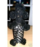 "FAB Retro 14"" Black Figural 2pc POODLE Bottle Cover! - $19.99"