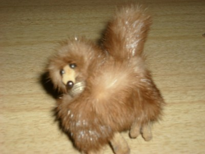 FABULOUS Vintage 50's MINK Fur POODLE Brooch & EARRINGS