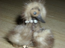 Charming Vintage 1950's MINK Fur POODLE Brooch/PIN with Rhinestone Collar! WoW!! - $55.00