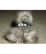 Charming Vintage 1950's MINK Fur POODLE Brooch/PIN with Rhinestone Colla... - $55.00