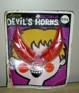 Vintage NEW OLD STOCK BAYSHORE Costume DEVIL HORNS PKG!