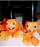 Vintage PUMPKIN / JACK O' LANTERN Halloween PLAS PICKS! - $19.99