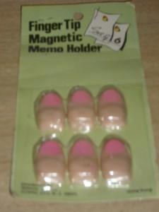 Vintage NEW OLD STOCK FINGER TIP Magnetic Memo Holders!