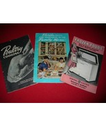Trio Vintage 40's & 50's CookBooklets Awesome Graphics! - $12.00
