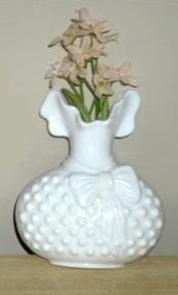 LoVely Vintage WHITE MILK GLASS HOBNail WALL POCKET!!!