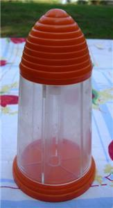 Primary image for Vintage MoD Orange Top BEEHIVE 6 Section SPICE/CANDY Dispenser Plastic SHAKER!