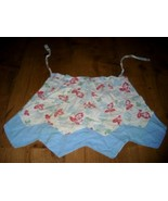 LoVely Vintage 50's Cotton Fabric BLUE ROSE APRON WoW! - $12.99