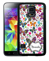 PERSONALIZED RUBBER CASE FOR SAMSUNG NOTE 8 5 4 3 WILDLY COLORFUL BUTTER... - $12.98