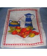 Retro VIVID Kitchen Graphics Cotton Kitchen Towel NEAT! - $10.00