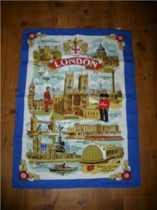 FUN NEW/OLD STOCK LONDON Graphic Kitchen/Bar TOWEL WoW!