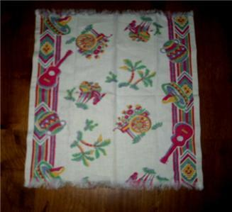 Primary image for Lovely Vintage MEXICANA Theme & Fun GRAPHIC KITCHEN Towel