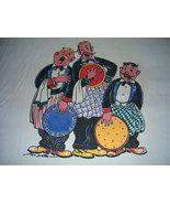 Darling 50's SINGING BARTENDERS Cotton Towel COLORFUL! - $12.99