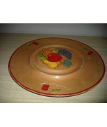 DARLING X Large Hand Painted FRUIT & CHERRY WOODEN TRAY - $14.99