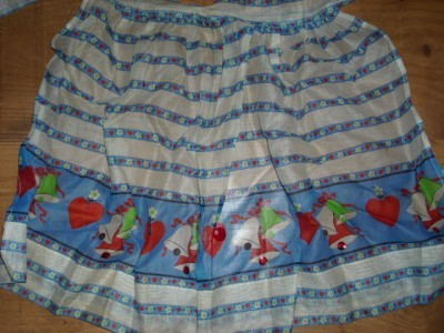 Darling 1950's HOLIDAY BELLS Cocktail Hostess APRON!!