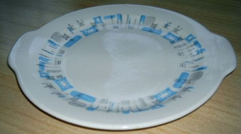 ATOMIC 50's Royal China BLUE Heaven TAB Platter
