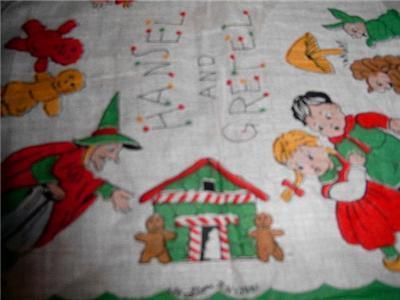 Darling Vintage CHILD'S HANKIE ~ HANSEL & GRETEL HANKY!