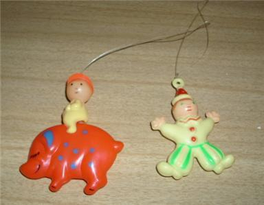 Primary image for Darling Vintage Nursery 1968 Stahlwood CAROUSEL Plastic Hangng MOBILE TOYS!