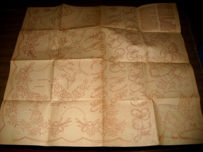 40's SHEET EMBROIDERY TRANSFERS FLORALS/Child/HOLIDAYS!