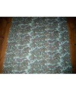 LoVely Vintage 50's AQUA PAISLEY Graphic Cotton Fabric! - $16.99