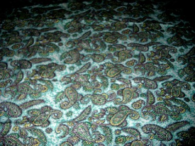 LoVely Vintage 50's AQUA PAISLEY Graphic Cotton Fabric!