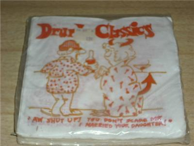 FAB Vintage COCKTAIL Bar NAPKINS HUMOROUS DRUNK SEALED!