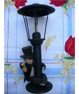 Adorable Vintage DRUNK on a LAMP POST ~ Tall TIN CANDLE HOLDER!! - $14.00