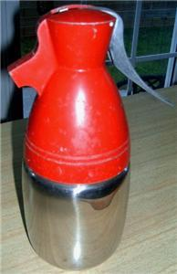 FAB Retro EAMES ERA Red/Silver BULLET Liquor Dispenser!