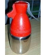 Wonderful Vintage EAMES ERA Red & Chrome Silver BULLET Seltzer/Liquor Di... - $32.00