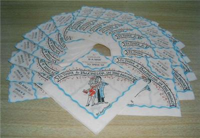 Vintage Beach Co. BACHELOR Humor Paper COCKTAIL NAPKINS