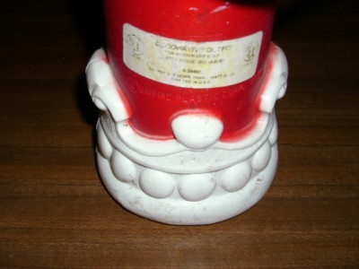 KITSCHY Retro EMPIRE LIGHT UP ~ BLOW MOLD NOEL CANDLE!!