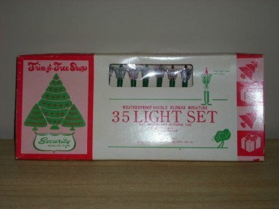 Retro TRIM-A-TREE Shop DOUBLE BLINKER LIGHT SET w/BOX!!
