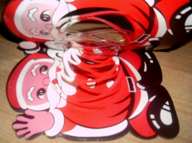 WoW 50's DIME Store SANTA Cut Out String A Long ~JAPAN