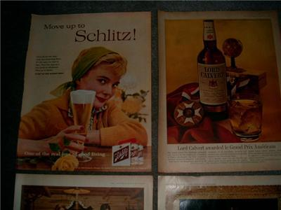 SWELL 50's/60's LIQUOR & BEER ADVERTISING AD Collection