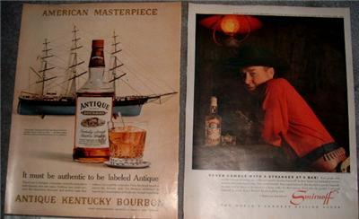 Retro 50's/60's LIQUOR & BEER ADVERTISING AD Collection