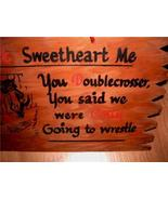 Neat Vintage 1950's Don't Sweetheart Me Naughty Humor Wood Rumpus Room W... - $12.00