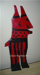 WoW R. A. Miller FOLK ART Figural CutOut Tin RED DEVIL!!!