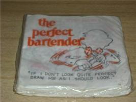 Retro COCKTAIL Bar NAPKINS 'PERFECT BARTENDER' SEALED! - $12.99