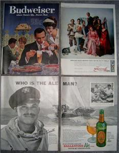 COOL 50's/60's LIQUOR & BEER ADVERTISING AD Collection