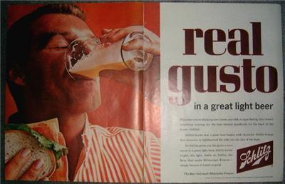 FAB 50's/60's SCHLITZ /BALLANTINE Ale ADVERTISING ADS!!