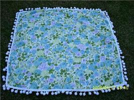 Wonderful MoD Vintage Flower Power and BUTTERFLY Tablecloth w/ Dingle Ball Edge - $24.00
